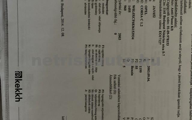 OPEL Corsa 1.2 16V Njoy Easytronic személygépkocsi - 1199cm3 Benzin 18343 4/4
