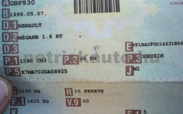 RENAULT Mégane 1.6 Sport személygépkocsi - 1598cm3 Benzin 50030 2/7