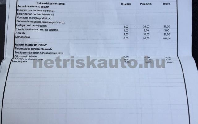 RENAULT Master 2.5 dCi L2H1 tehergépkocsi 3,5t össztömegig - 2463cm3 Diesel 27402 10/12